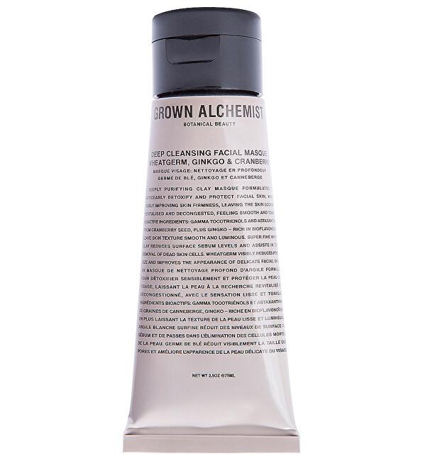 Grown Alchemist Hloubkově čisticí pleťová maska Wheatgerm, Ginkgo & Cranberry (Deep Cleansing Masque) 75 ml