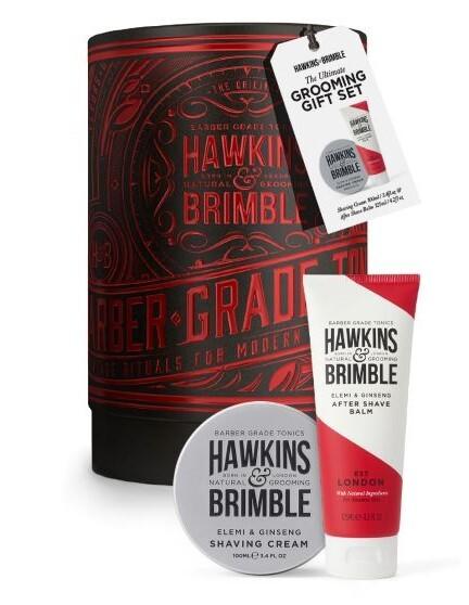 Hawkins & Brimble Dárková sada krém na holení + balzám po holení