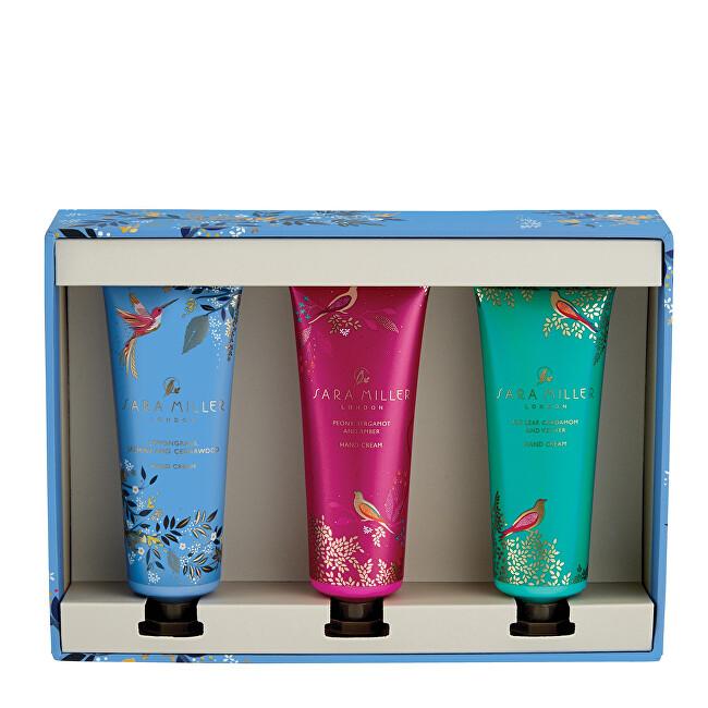 Heathcote & Ivory Sada hydratačných krémov na ruky Trilogy pink, blue & green 3 x 30 ml