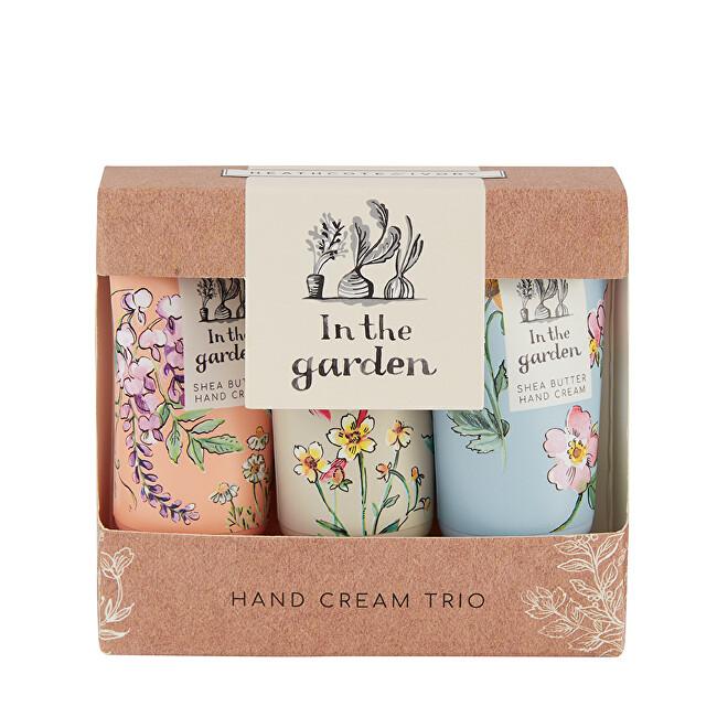Heathcote & Ivory Sada krémov na ruky a nechty s bambuckým maslom In the Garden 3 x 30 ml