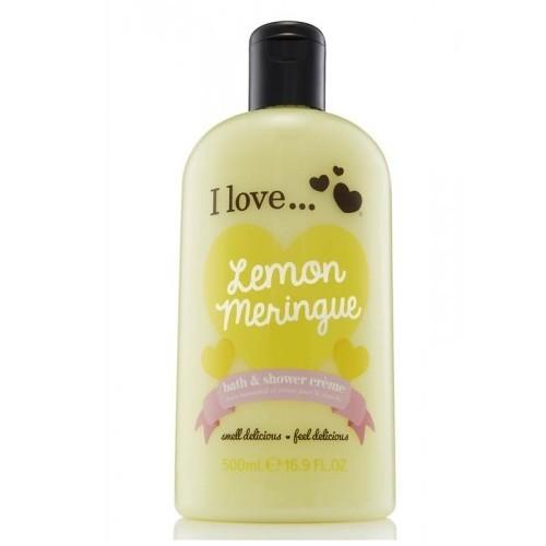 I Love Koupelový a sprchový krém s vůní citronové sněhové pusinky (Lemon Meringue Bath & Shower Creme) 500 ml