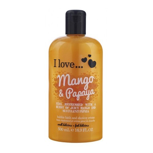 I Love Koupelový a sprchový krém s vůní manga a papáji (Mango & Papaya Bubble Bath And Shower Creme) 500 ml