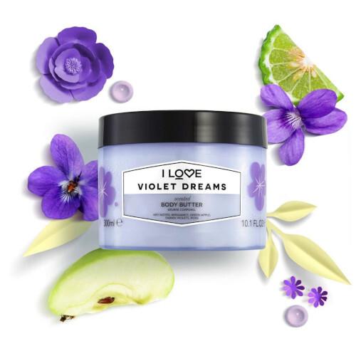 I Love Tělové maslo Violet Dreams (Body Butter) 300 ml