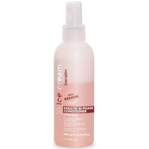Inebrya Dvoufázový bezoplachový kondicionér Ice Cream Keratin (Keratin Bi-Phase Conditioner) 200 ml
