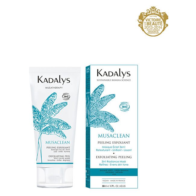 Kadalys Exfoliační peelingová maska 3v1 BIO Musaclean (Exfoliating Peel 3in1 Glow Mask) 50 ml
