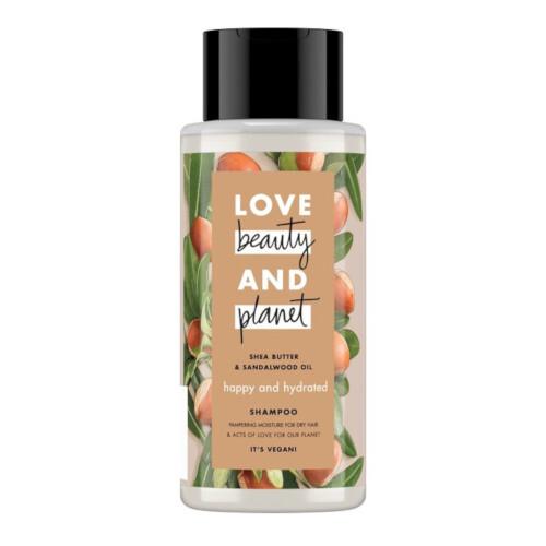 Love Beauty and Planet Hydratační šampon s bambuckým máslem a santalovým dřevem (Happy & Hydrated Shampoo) 400 ml