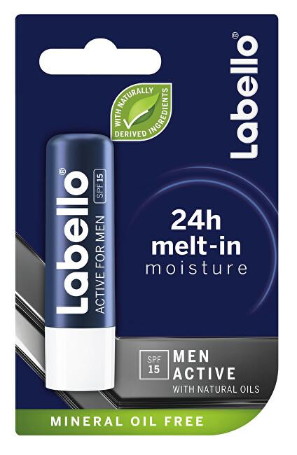 Fotografie Labello Active for Men balzám na rty pro muže, 4,8 g Labello