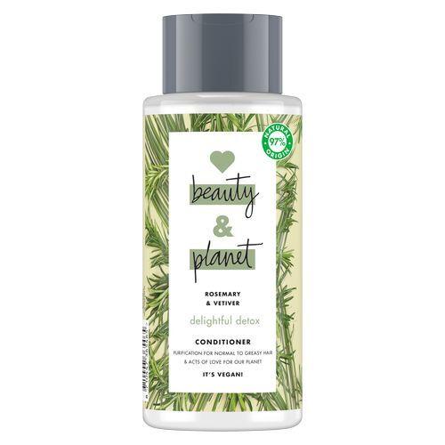 Love Beauty and Planet Čisticí kondicionér s rozmarýnem a vetiverem pro vlasy s tendencí se mastit (Delightful Detox Conditioner) 400 ml