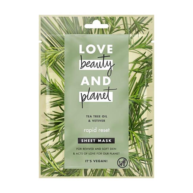 Love Beauty and Planet Textilní maska Tea Tree & Vetiver 1 ks