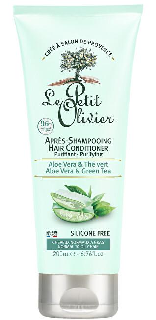 Le Petit Olivier Čistiace kondicionér pre normálne a rýchlo sa mastiace vlasy Aloe vera a zelený čaj (Conditioner) 200 ml