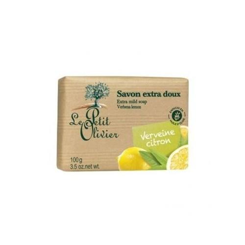 Le Petit Olivier Extra jemné mydlo Verbena a citrón (Extra Mild Soap Bars) 100 g