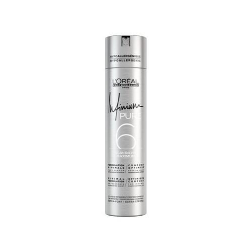 L´Oréal Professionnel Hypoalergénne lak na vlasy bez parfumácie pre silnú fixáciu účesu Infinium Pure (Strong Hair spray) 500 ml