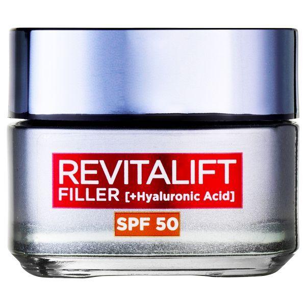 L´Oréal Paris Denní krém proti stárnutí pleti SPF 50 Revitalift Filler (Anti-Ageing Cream) 50 ml