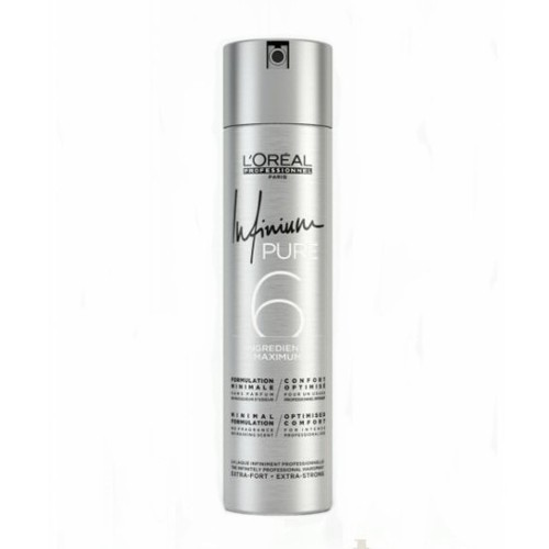 L´Oréal Professionnel Hypoalergénne lak na vlasy bez parfumácie pre extra silnú fixáciu vlasov Infinium Pure (Extra Strong Hair spray) 500 ml