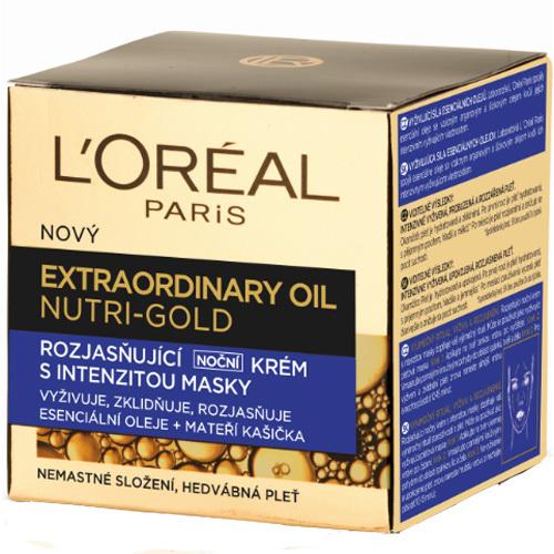 L´Oréal Paris Rozjasňující noční krém s intenzitou masky Nutri Gold (Extraordinary Oil Face) 50 ml
