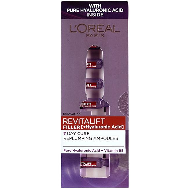 L´Oréal Paris Vypĺňajúci pleťová starostlivosť s kyselinou hyalurónovou Revitalift Filler (Hyaluronic Acid) 7 x 1,3 ml