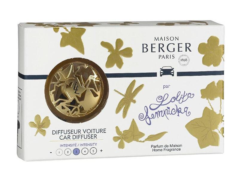 Maison Berger Paris Darčeková sada difuzér do auta Zlatý + náplň Lolita Lempicka