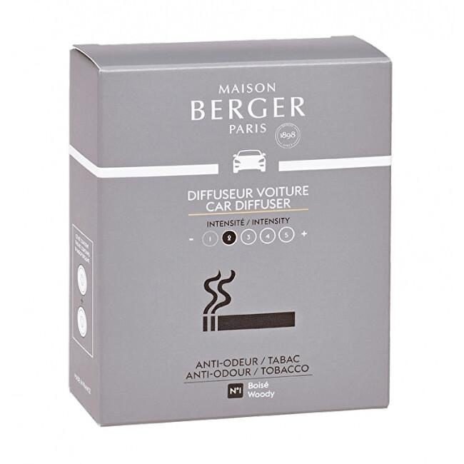 Maison Berger Paris Náhradní náplň do difuzéru do auta Antiodour tabák Tobacco (Car Diffuser Recharge/Refill) 2 ks