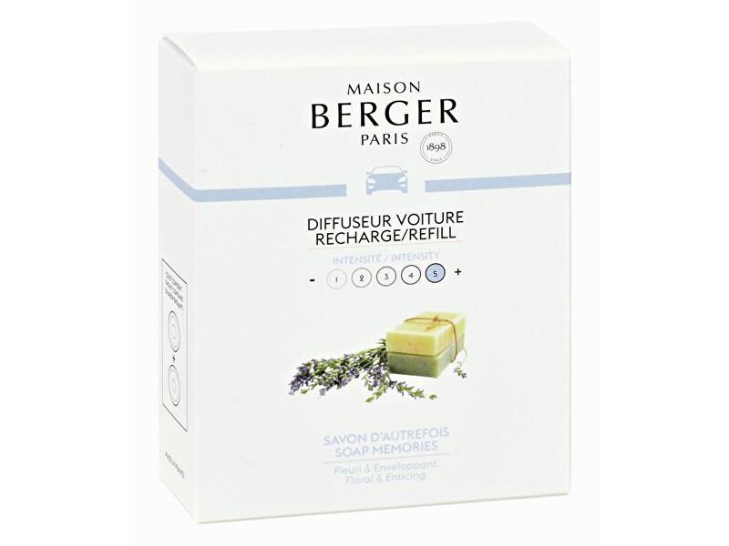 Maison Berger Paris Náhradní náplň do difuzéru do auta Mýdlové bublinky Soap Bubbles (Car Diffuser Recharge/Refill) 2 ks