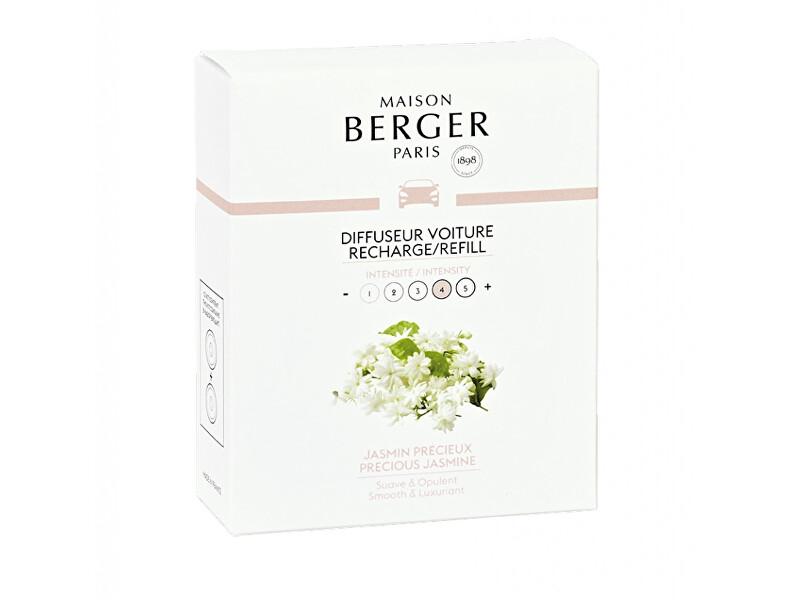 Maison Berger Paris Náhradní náplň do difuzéru do auta Vzácný Jasmín Precious Jasmine (Car Diffuser Recharge/Refill) 2 ks
