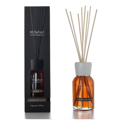 Millefiori Milano Aróma difuzér Natural Vanilka a drevo 100 ml