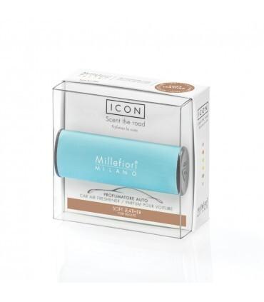 Millefiori Milano Vôňa do auta Icon Classic Jemná koža 47 g