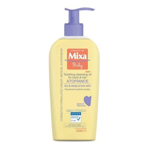 Mixa Zklidňující a čisticí olej pro děti (Soothing Cleansing Oil For Body & Hair) 250 ml
