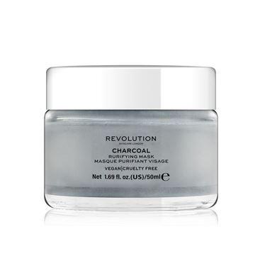 Revolution Skincare Čistiaca maska na tvár s aktívnym uhlím (Purifying Charcoal Mask) 50 ml