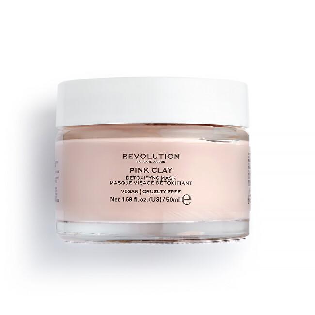 Revolution Skincare Detoxikační pleťová maska Pink Clay (Detoxifying Pink Clay Mask) 50 ml