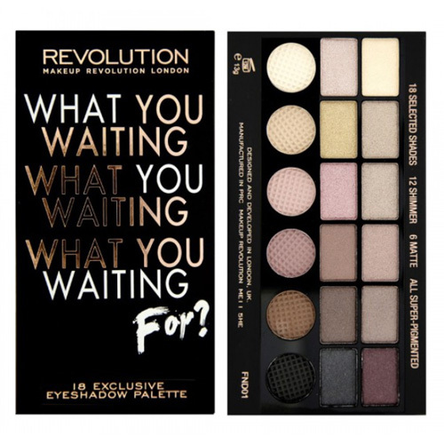 Makeup Revolution Paletka očních stínů What You Waiting For?