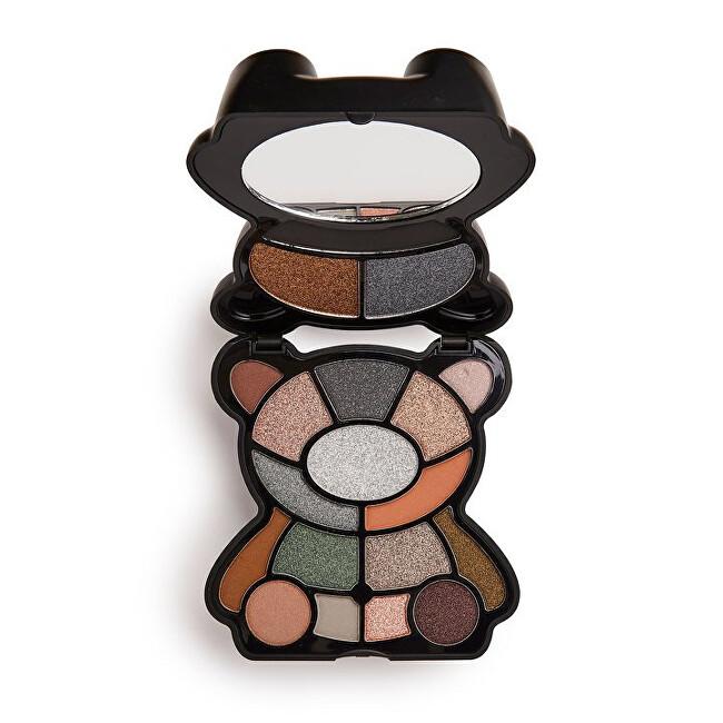 I Heart Revolution Paletka očných tieňov Teddy Bear Jett (Shadow Palette) 14,4 g