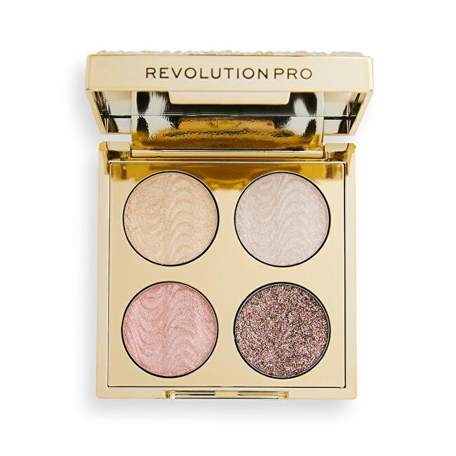 Revolution PRO Paletka očních stínů Ultimate Crystal Eye Quad Champagne Crystal 3,2 g
