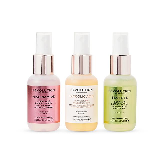 Revolution Skincare Sada mini sprejov Mini Essence Spray Kit: So Soothing 3 x 50 ml