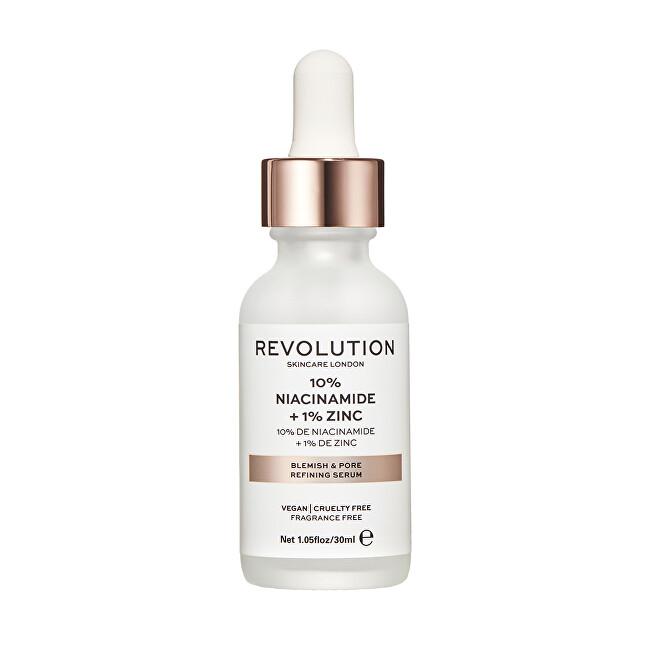 Revolution Skincare Sérum na rozšířené póry se zinkem (Blemish and Pore Refining Serum) 30 ml