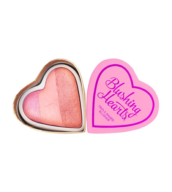 I Heart Revolution Srdcová tvárenka Vášnivé srdce I LOVE MAKEUP (Hearts Blusher Candy Queen of Hearts) 10 g