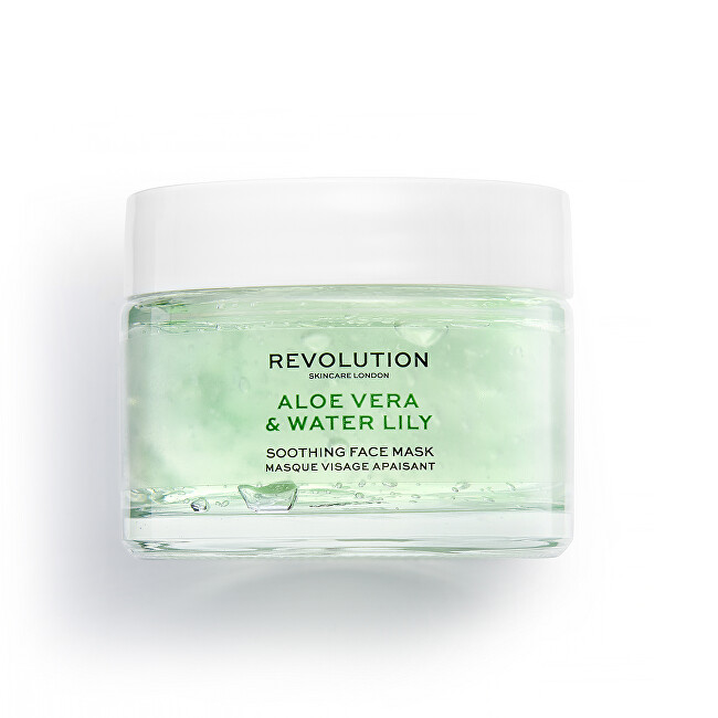 Revolution Skincare Upokojujúca pleťová maska Skincare Aloe Vera & Water Lily (Soothing Face Mask) 50 ml