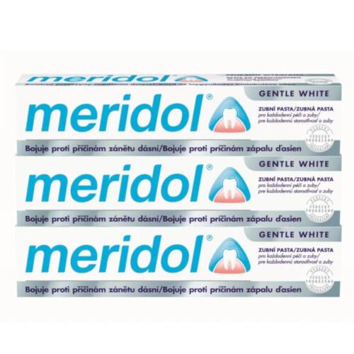 Meridol Zubní pasta s bělicím účinkem (Gentle White) tripack 3 x 75 ml