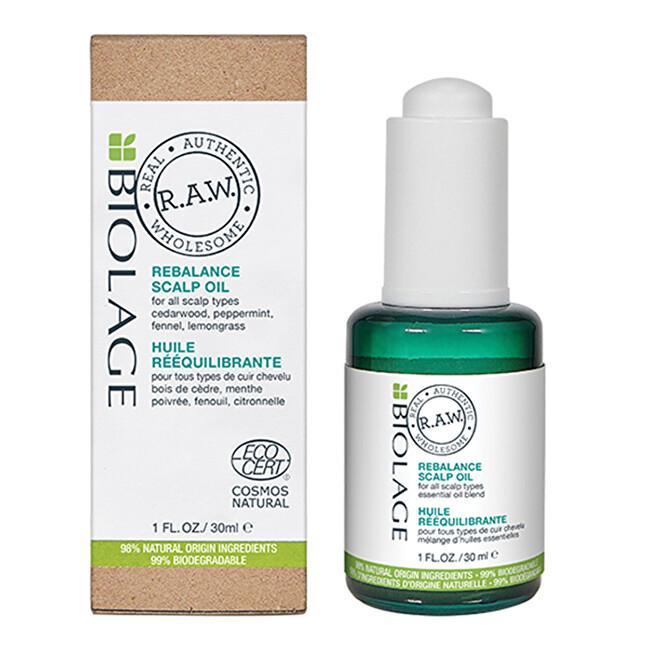 Biolage Upokojujúci olej na pokožku hlavy RAW (Rebalance Scalp Oil) 30 ml