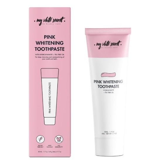My White Secret Remineralizující zubní pasta pro citlivé zuby s hydroxyapatitem (Pink Whitening Toothpaste) 50 ml