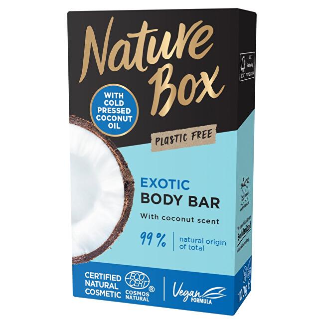 Nature Box Tuhé sprchové mýdlo Coconut Oil (Shower Bar) 100 g