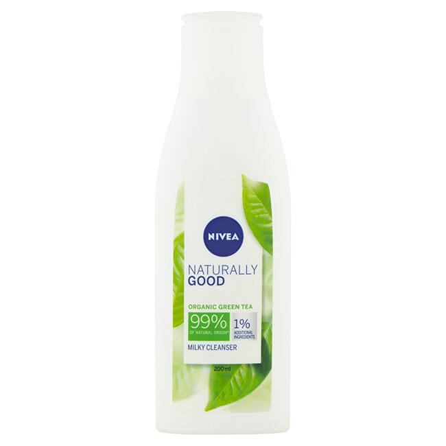 Nivea Čistiace pleťové mlieko Naturally Good (Milky Cleanser) 200 ml