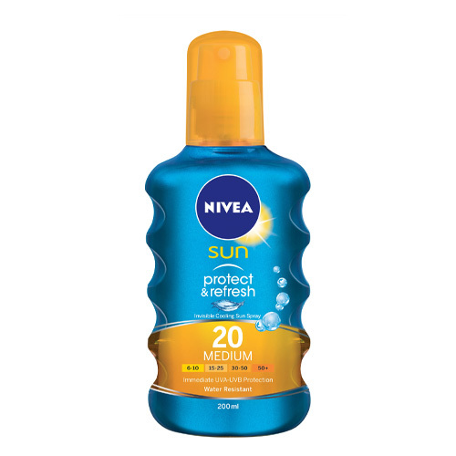 Nivea Neviditelný sprej na opalování SPF 20 Sun (Invisible Protection Transparent spray) 200 ml