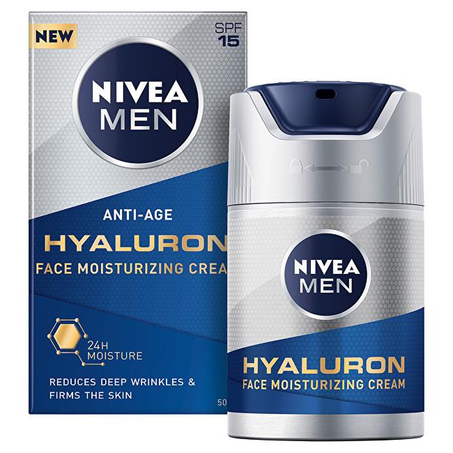 Nivea Hydratačný krém proti vráskam Nivea Men Hyaluron SPF 15 (Face Moisturizing Cream) 50 ml