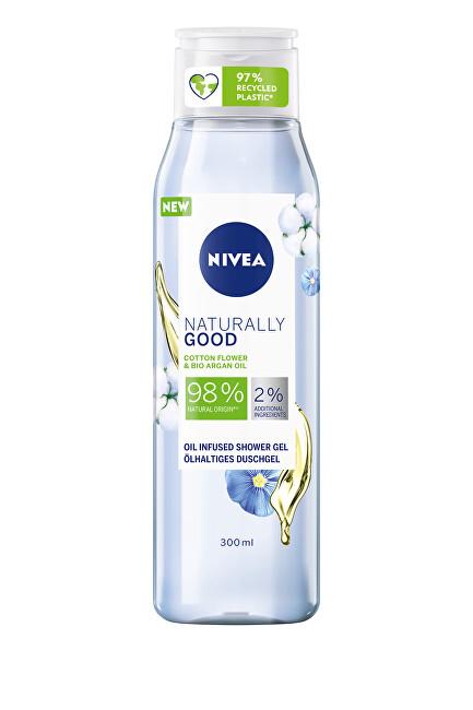 Nivea Sprchový gél Naturally Good Cotton Flower (Oil Infused Shower Gel) 300 ml