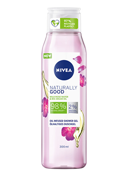 Nivea Sprchový gél Naturally Good Wild Rose (Oil Infused Shower Gel) 300 ml