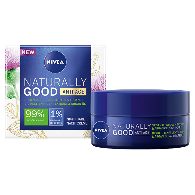 Nivea Nočný krém proti vráskam Naturally Good 50 ml