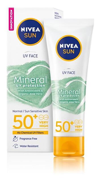 Nivea Pleť ový krém na opaľovanie Mineral OF50 + Nivea Sun