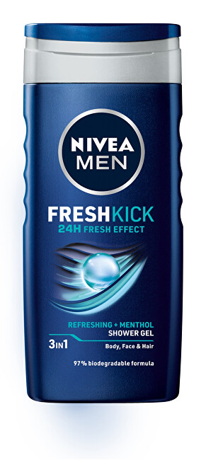 Nivea Sprchový gél na tvár, telo a vlasy Men Fresh Kick 250 ml