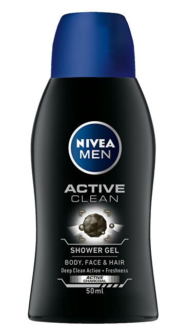 Nivea Sprchový gél pre mužov Active Clean mini (Shower Gel) 50 ml
