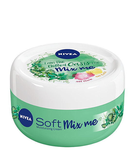 Nivea Svieža hydratačný krém Soft Mix Me (Moisturizing Cream I Am The Chilled Oasis One) 100 ml